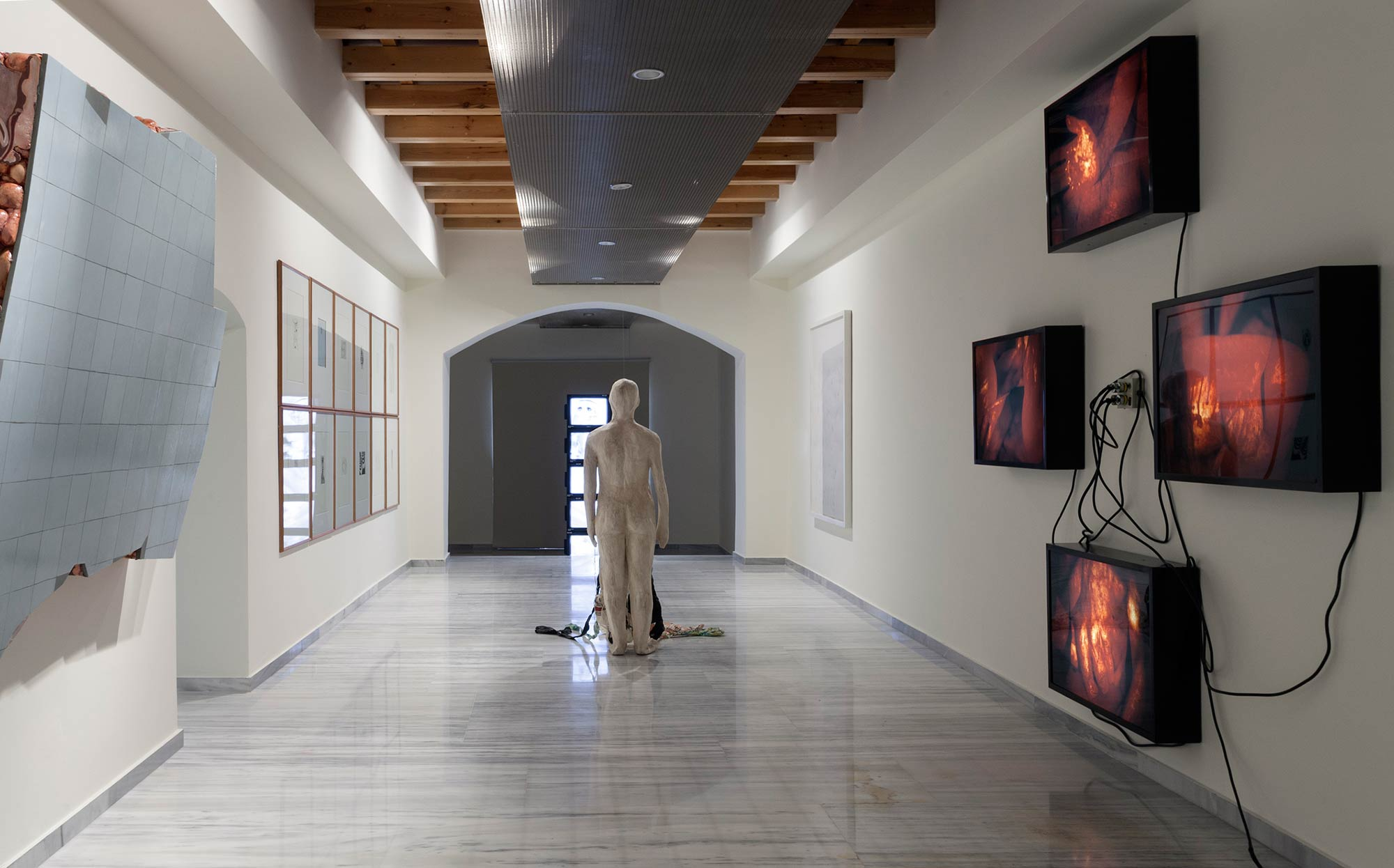 Installation View | FLYING OVER THE ABYSS | Museum of Contemporary Art of Crete | Photo Nikos Markou |Courtesy NEON